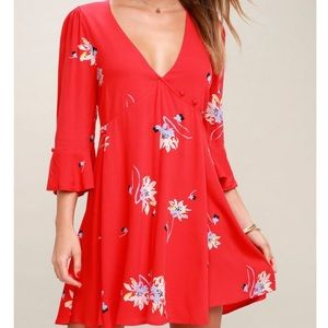 Free People Time On My Side Floral Wrap Dress